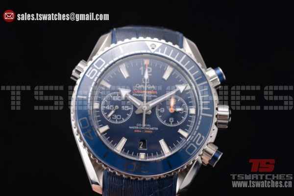 Omega Seamaster Planet Ocean 600 M Co-Axial Chrono Blue Dial SS/LT - 9900 Auto (EF)