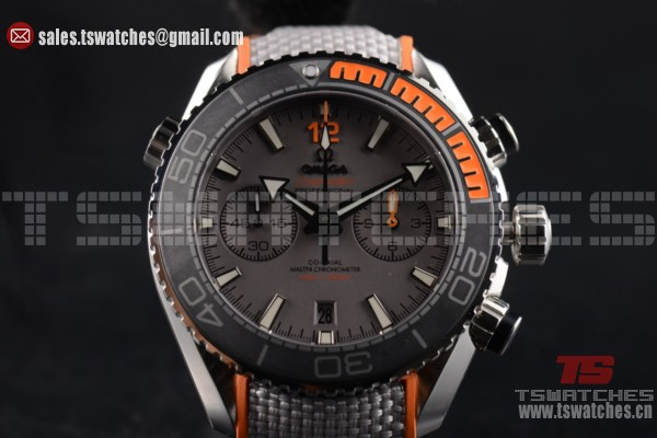 1:1 Omega Seamaster Planet Ocean Master Chronometer 9900 Auto Grey Dial SS/LT (EF)