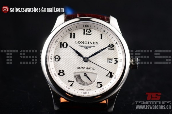 Longines Master Power Reserve 2824 Auto SS/LT White Dial