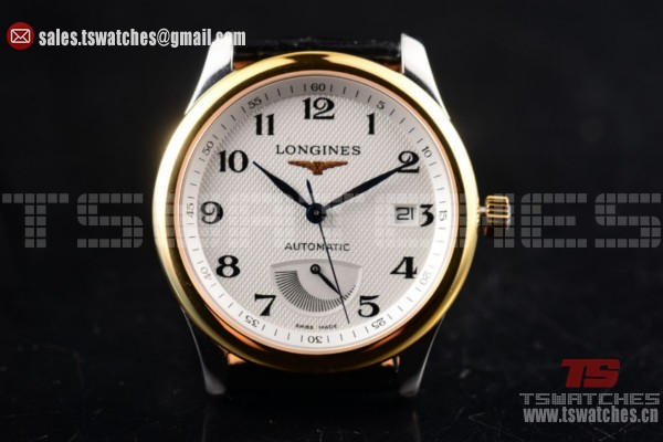 Longines Master Power Reserve 2824 Auto White Dial YG/LT