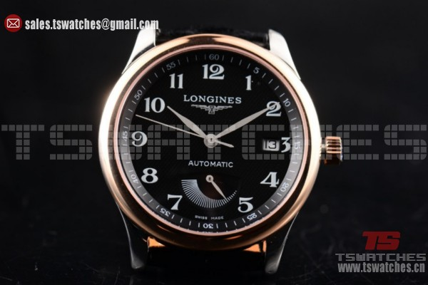 Longines Master Power Reserve 2824 Auto Black Dial