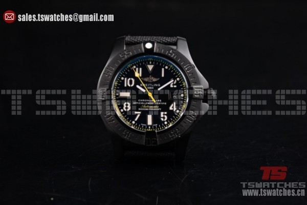 Breitling Avenger Seawolf Code Yellow 2836 Auto PVD/LT Black Dial (H)
