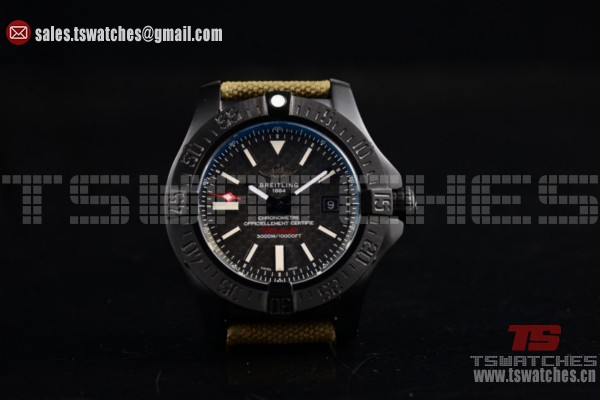 1:1 Breitling Avenger Seawolf II 75 Anniversary Army Air 2836 Auto PVD/LT Black Dial (H)