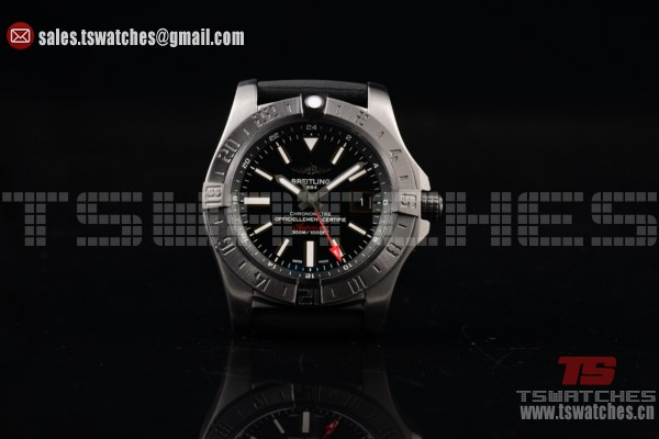Breitling Avenger II GMT 2824 Auto SS/RU Black Dial