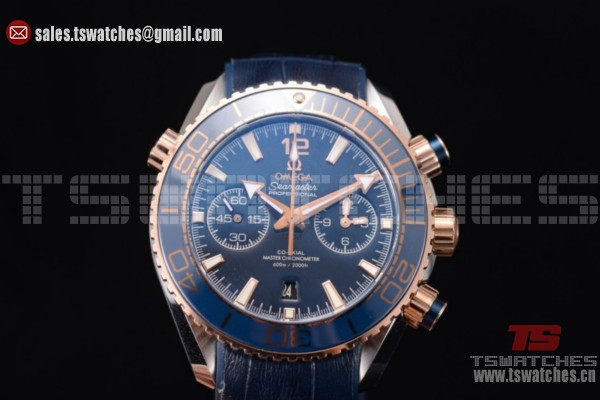 Omega Seamaster Planet Ocean 600M Co-Axial Chrono Blue Dial SS/LT - Omega 9301 Auto(EF)