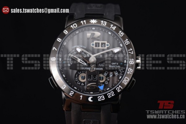 Ulysse Nardin Executive Dual Time & Big Date Black Dial PVD/RU - ST25 Auto