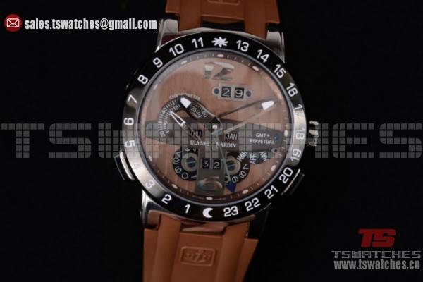 Ulysse Nardin Executive Dual Time & Big Date Brown Dial SS/RU - ST25 Auto