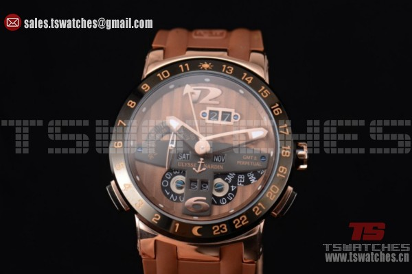 Ulysse Nardin Executive Dual Time & Big Date Brown Dial RG/RU - ST25 Auto