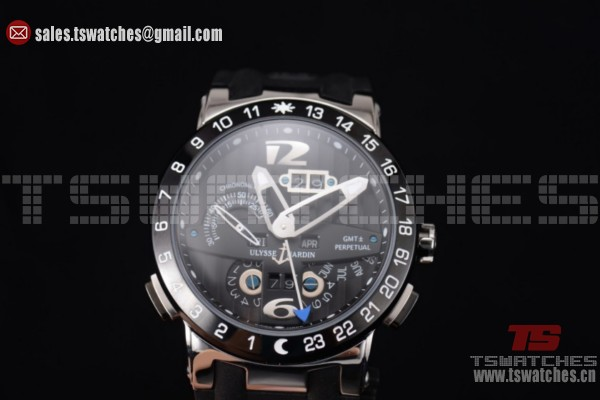 Ulysse Nardin Executive Dual Time & Big Date Black Dial SS/RU - ST25 Auto