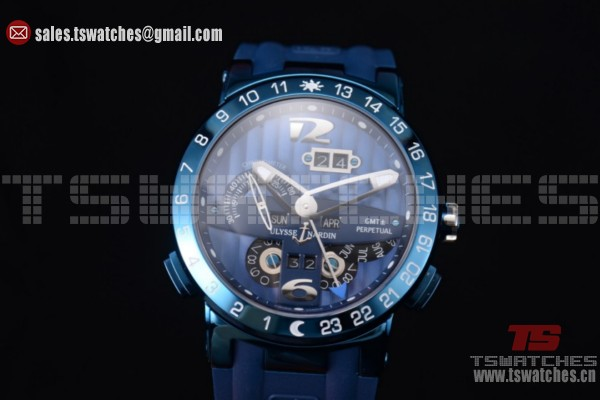 Ulysse Nardin Executive Dual Time & Big Date Blue Dial SS/RU - ST25 Auto