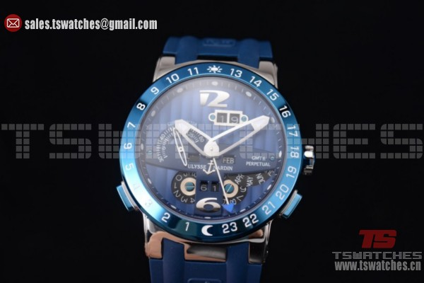 Ulysse Nardin Executive Dual Time & Big Date Blue Dial Blue Bezel SS/RU - ST25 Auto