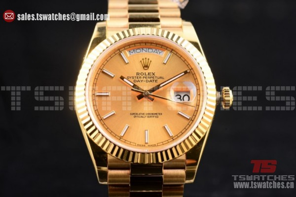 Rolex Day-Date II 3135 Auto YG/YG Yellow Gold Dial (BP)