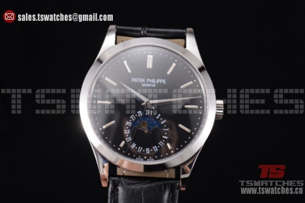 Patek Philippe Complications Black Dial SS/LT - Miyota 9015 Auto