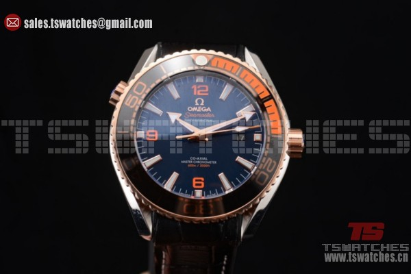 Omega Seamaster Planet Ocean 600M Clone Omega 8900 Auto SS/LT Blue Dial (EF)