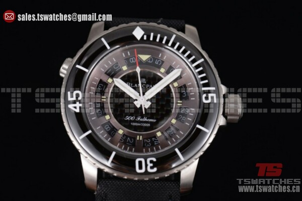 BlancPain Fifty Fathoms 500 Fathoms Brown Dial SS/NY - 8205 Auto