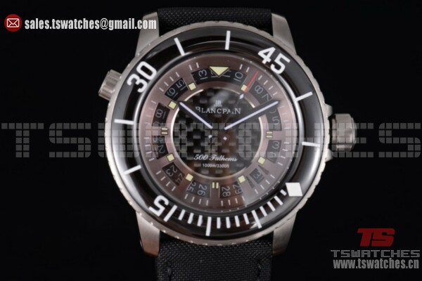 BlancPain Fifty Fathoms 500 Fathoms SS/NY Brown Dial - 8205 Auto