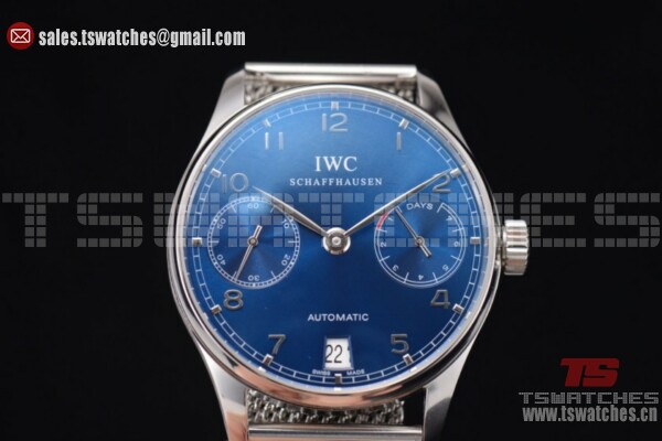 IWC Portuguese Automatic Blue Dial SS/SS - 52010 Auto(YL)