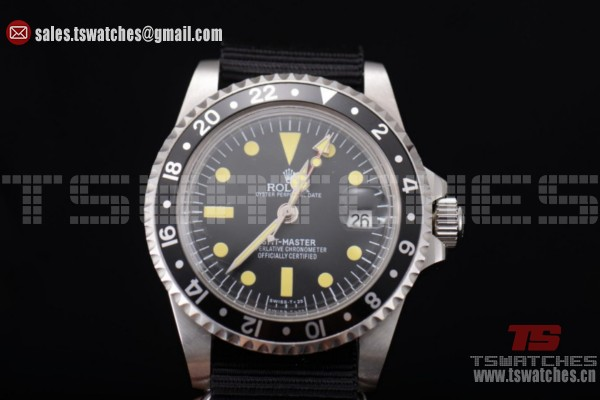 Rolex GMT-Master Black Dial SS/NY Yellow Markers - 2813 Auto