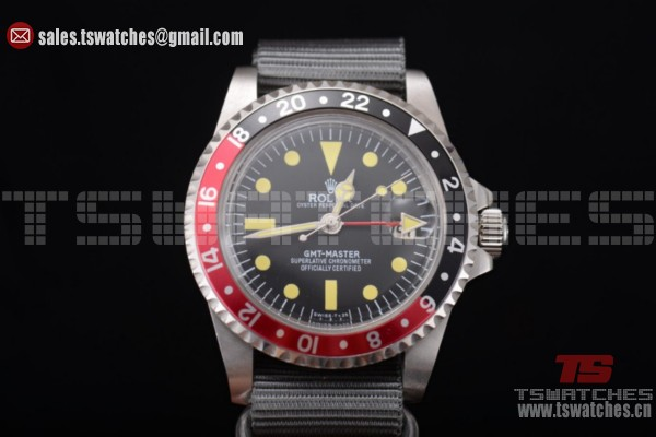 Rolex GMT-Master Yellow Markers Black Dial SS/NY - 2813 Auto