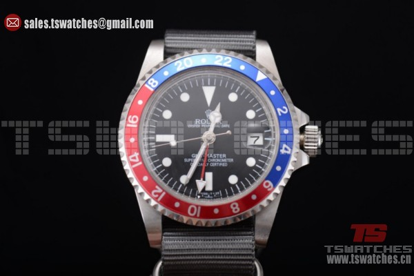 Rolex GMT-Master Black Dial Blue/Red Bezel SS/NY - 2813 Auto