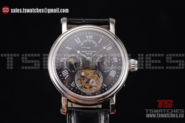 Patek Philippe Grand Complication Black Dial SS/LT - Swiss Tourbillon Auto(AAAF)