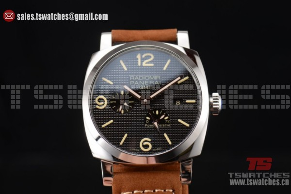 Panerai Radiomir 1940 3 Days GMT Power Reserve ST25 Auto SS/LT Black Dial