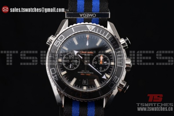 1:1 Omega Seamaster Planet Ocean Chronograph 7750 Auto SS/NY Black Dial(EF)