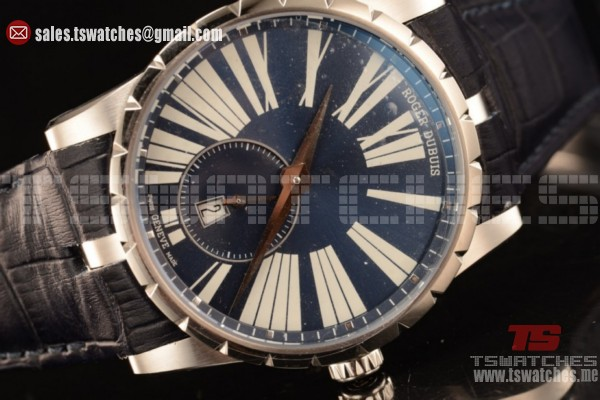 Roger Dubuis Excalibur Chronograph RD830 Auto Blue Dial DBEX0535