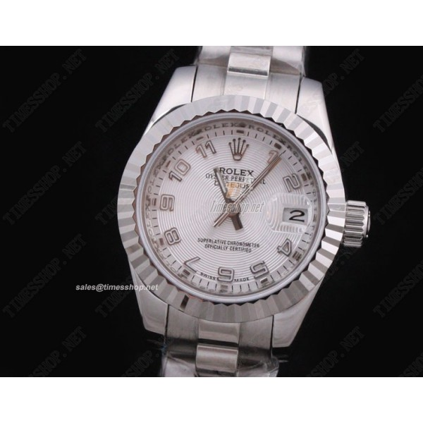 RO2706 - Woman DateJust SS White Dial Numberal Mark - Swiss ETA 2671