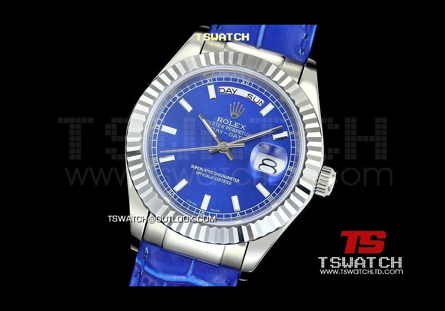 RO14215 - 118139 Day-Date Blue Dial SS LT
