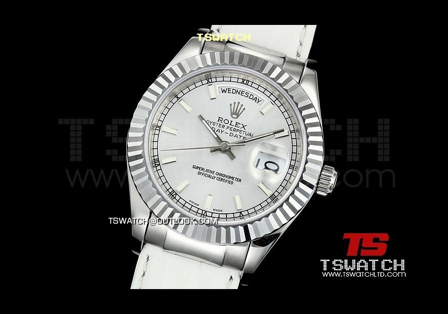 RO14210 - 118139 Day-Date White Dial SS LT