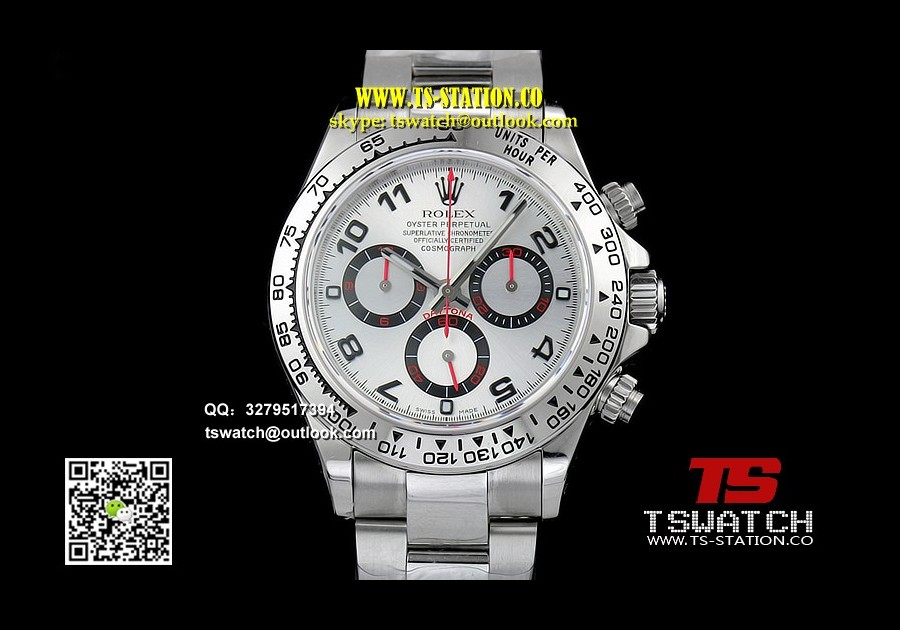 RO17769 - Daytona 116509 Silver Dial JF 1:1 Best A7750