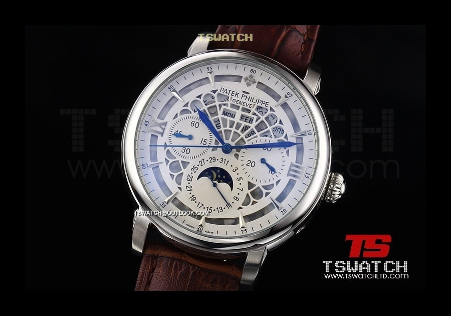 PA14922 - Patek Complications Skeleton SS LT Asian 2813 Automatic