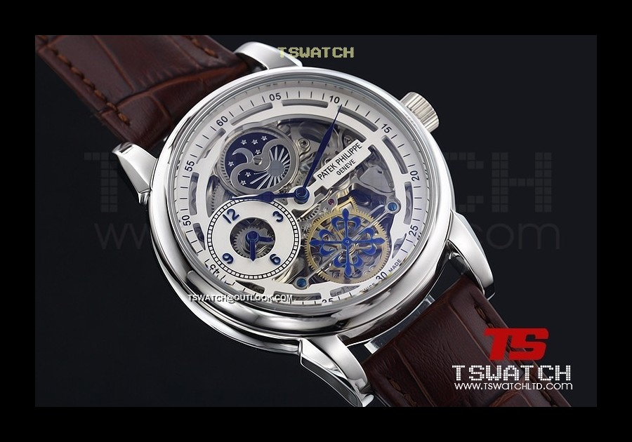 PA14916 - Patek Complications Skeleton SS LT Asian 2813 Automatic
