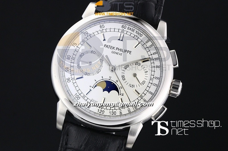 PA13289 - Patek Philippe Geneve White Dial Moonface - Lemania Hand Wind