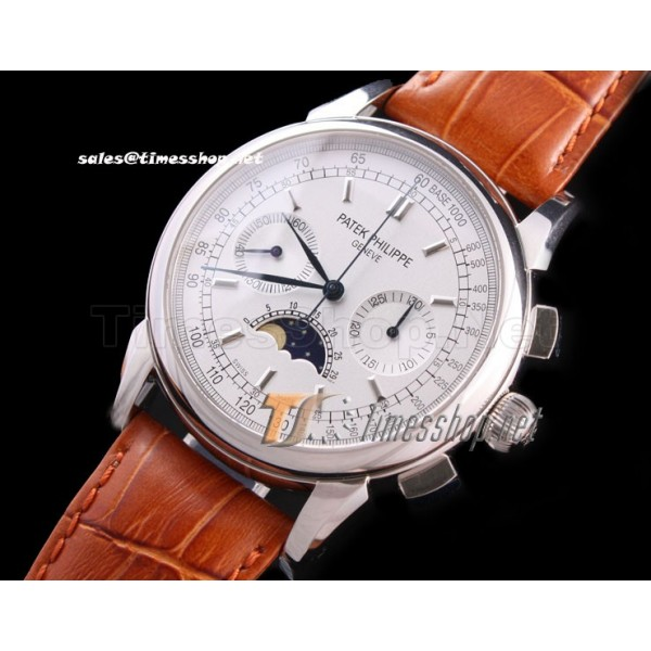 PA1181 - Patek Philippe Geneve White Dial Moonface - Lemania Hand Wind
