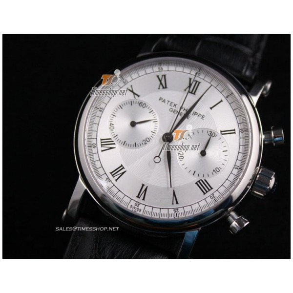PP7065 - Patek Philippe Classic Vintage White Dial - Lemania Chronograph