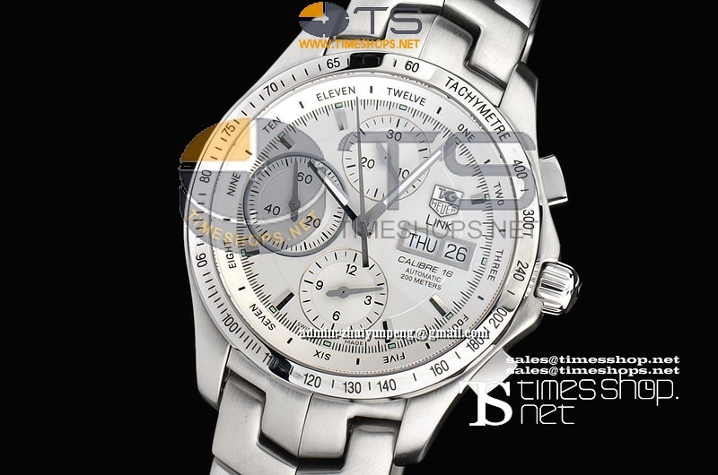 TG7110FO - Tag Heuer Link Calibre 16 White Dial SS/SS - Asian 7750 28800bph