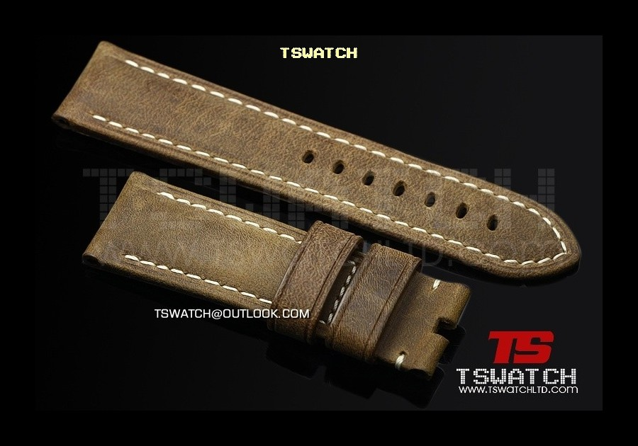 13953 - Panerai Italy high grade Leather Strap 24/22