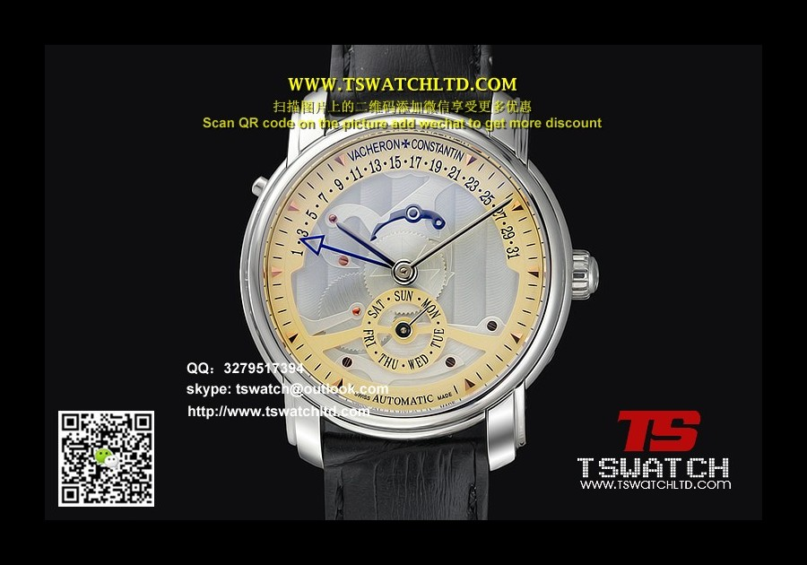 VC17096 - VC Mans Silver Dial SS LT Seagull Automatic