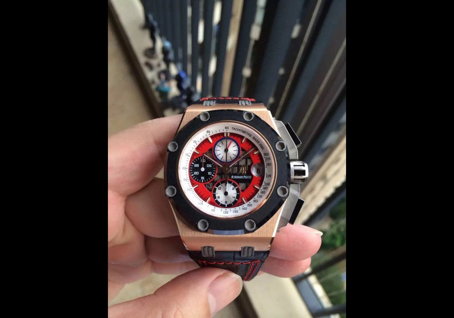 AP17877 - Royal Oak Offshore 44mm JF Red Dial RG LT A3126