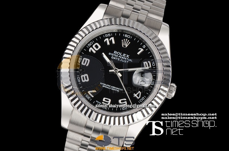 RO0600 - Datejust 41mm Black Dial SS/SS AAA - Asian 21j Automatic