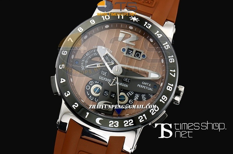 UN13534 - Ulysse Nardin GMT Perpetual Brown Dial SS/RU - Asian Automatic