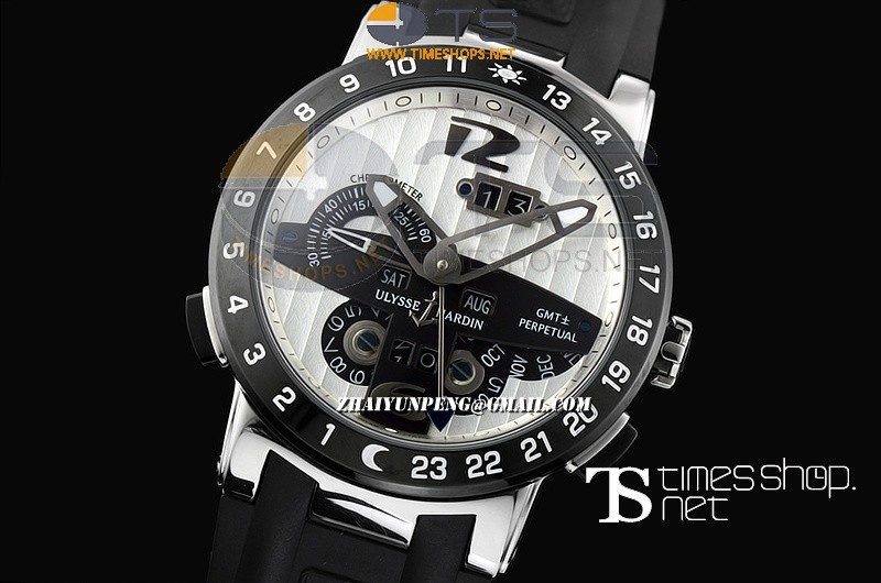 UN13531 - Ulysse Nardin GMT Perpetual White Dial SS/RU - Asian Automatic