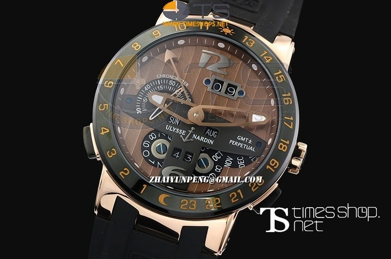 UN13528 - Ulysse Nardin GMT Perpetual Brown Dial RG/RU - Asian Automatic