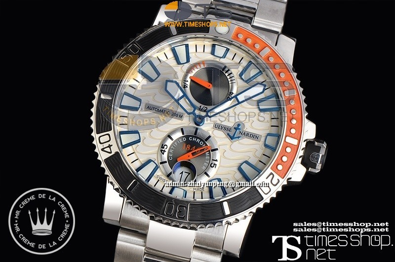 XFUN3500 - Ulysse Nardin Maxi Marine Diver White Dial SS/SS - Asia 23J Automatic