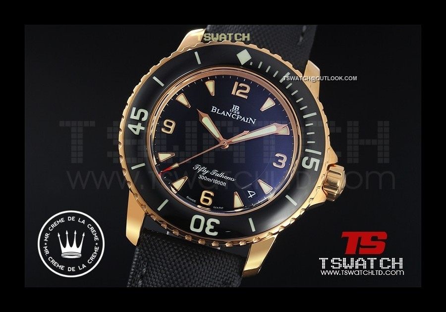BL15990 - Fifty Fathoms Noob Black Dial 1:1 Best RG A2836