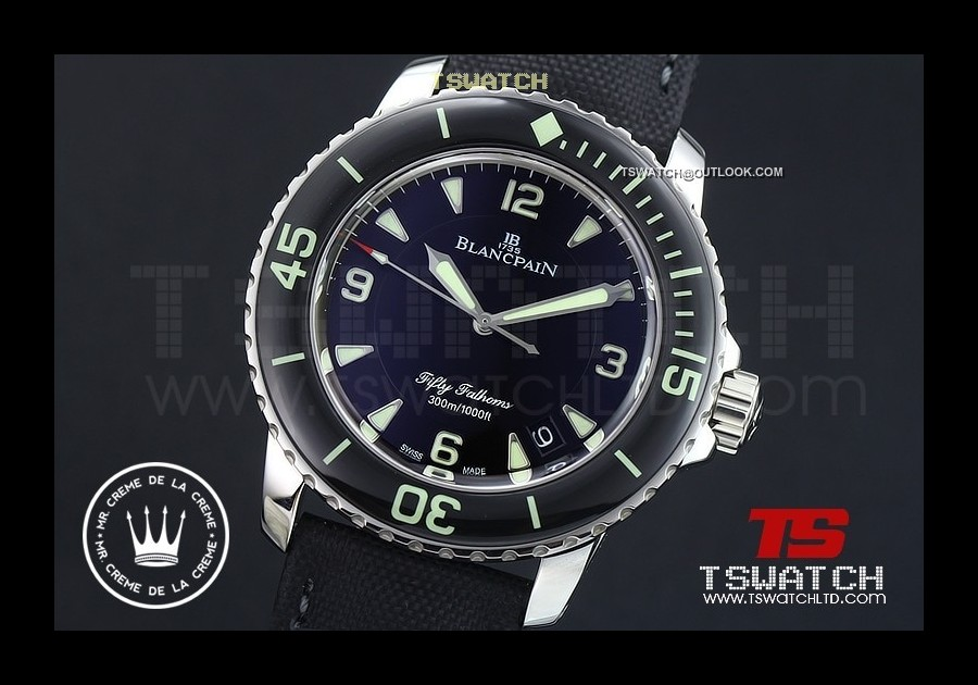 BL15616 - Fifty Fathoms Noob Black Dial 1:1 Best A2836