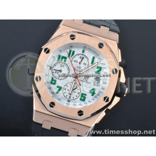 AP0100 - AP Royal Oak Mexico Limited Edition RG/LT White - Asian 7750 28800BPH 12:00 second hand