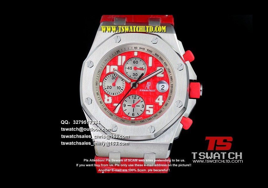 AU17422 - ROO Chrono JF Red Dial SS LT A7750
